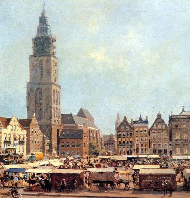View On Market In Groningen - Cornelis Vreedenburgh