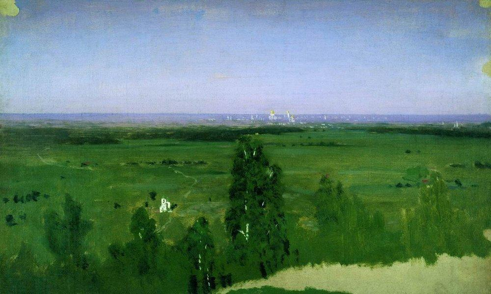 View on Moscow from Sparrow Hills - Arkhip Kuindzhi