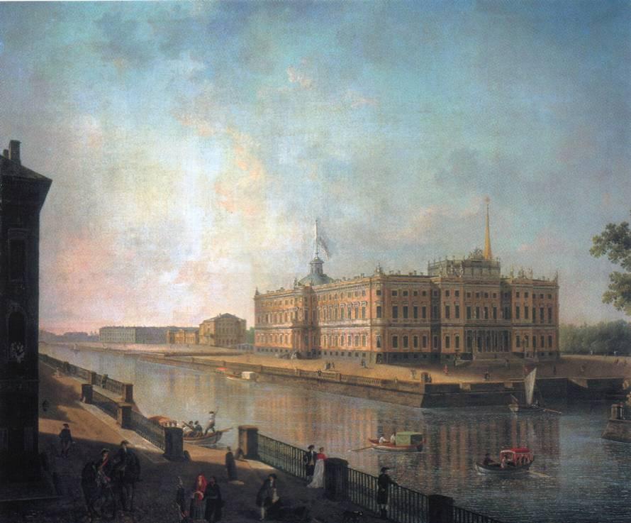 View onto St. Michael's Castle in St. Petersburg from the Fontanka Side - Fyodor Alekseyev