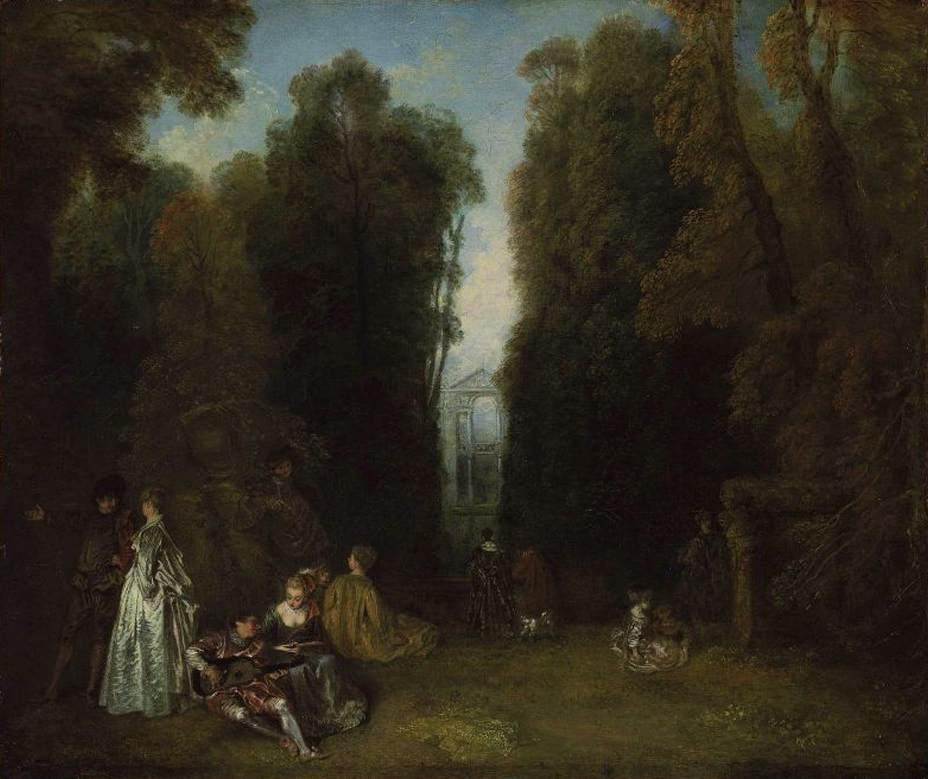View through the Trees in the Park of Pierre Crozat - Antoine Watteau
