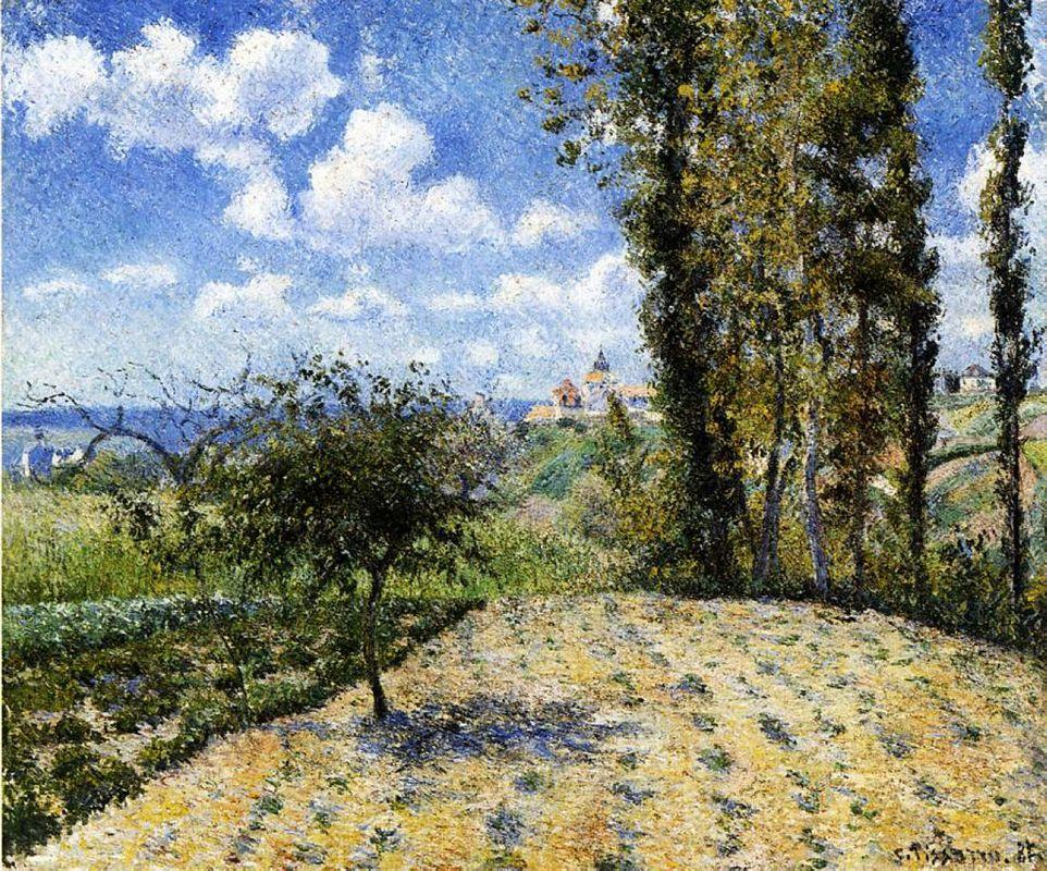 View Towards Pontoise Prison, in Spring - Camille Pissarro