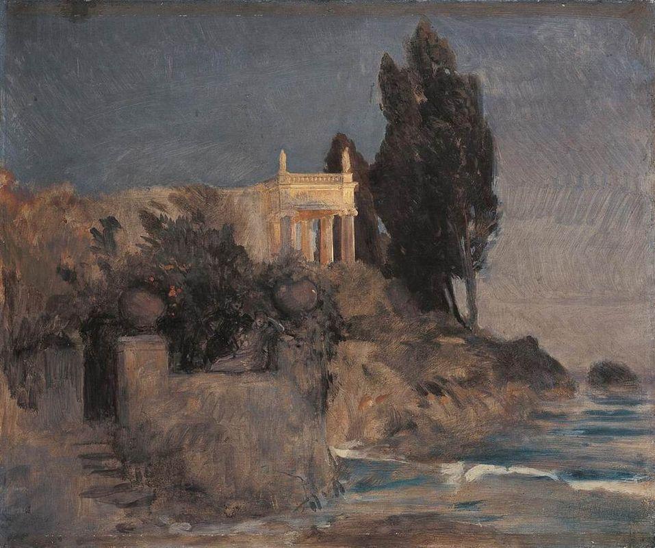 Villa by the Sea - Arnold Bocklin