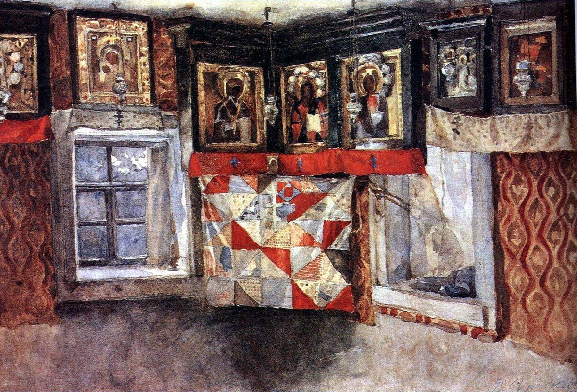 Village altapiece - Vasily Surikov