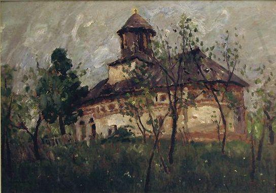 Village Church - Camille Pissarro