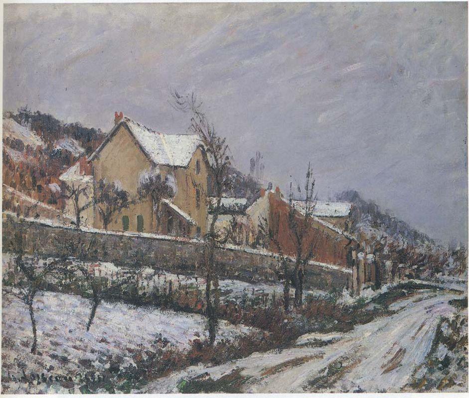 Village in Snow - Gustave Loiseau