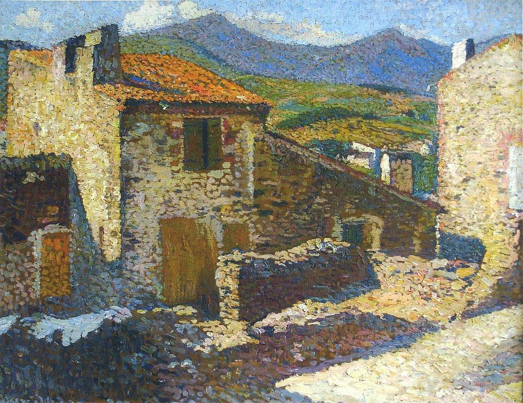 Village in the Sun - Henri Martin