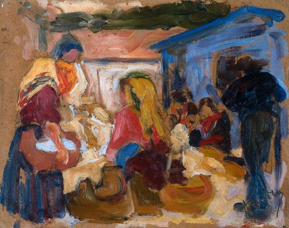 Village Market in Cardoso  - Amadeo de Souza-Cardoso