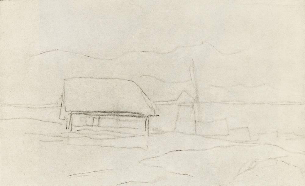 Village. Windmill. - Isaac Levitan