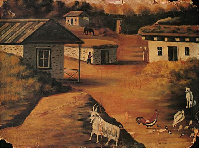 Village - Niko Pirosmani