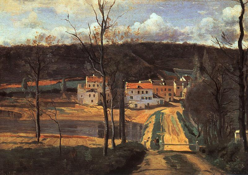 Ville d'Avray the Pond and the Cabassud House - Camille Corot