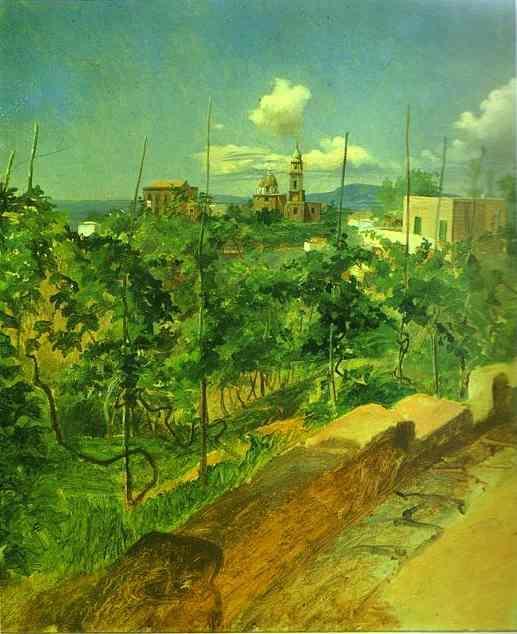 Vineyard at Vico - Nikolai Ge