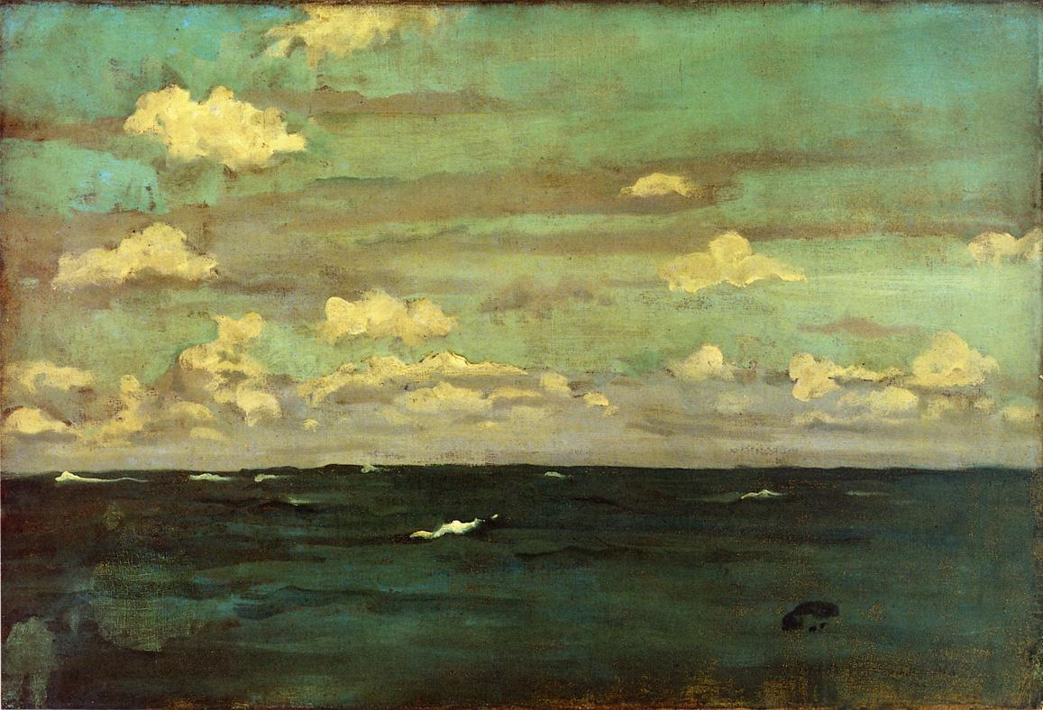 Violet and Silver - The Deep Sea - James McNeill Whistler