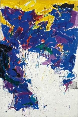 Violet, Yellow and White - Sam Francis