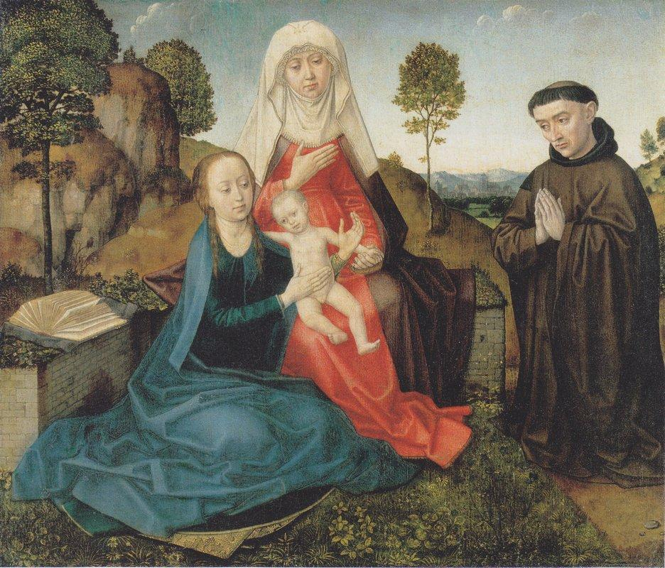 Virgin and Child With St. Anne and a Franciscan donor - Hugo van der Goes