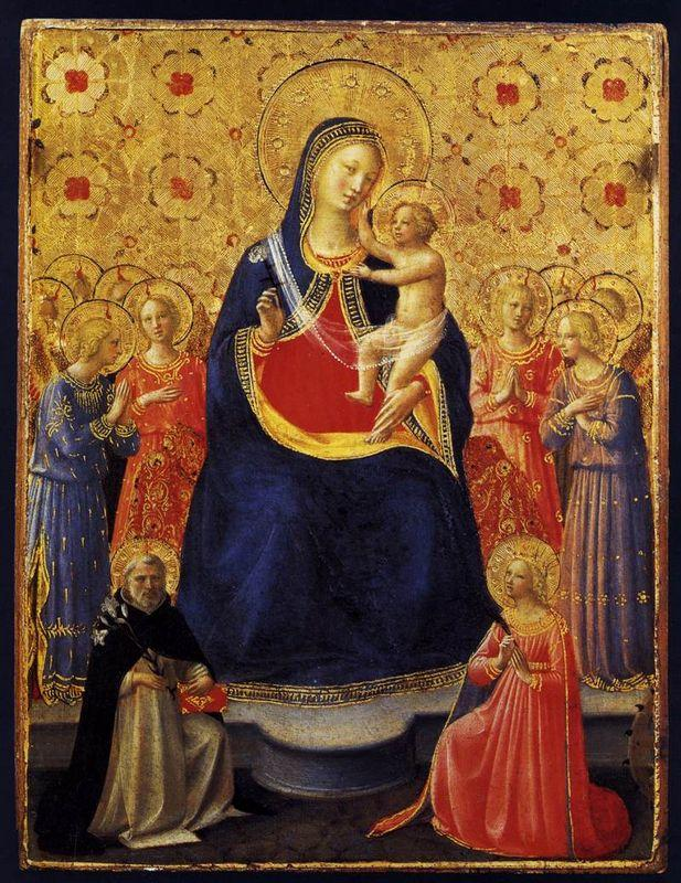 Virgin and Child with Sts. Dominic and Catherine of Alexandria - Fra Angelico