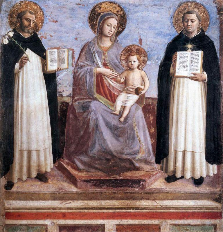 Virgin and Child with Sts. Dominic and Thomas Aquinas - Fra Angelico