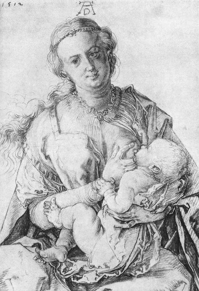 Virgin Mary suckling the Christ Child - Albrecht Durer