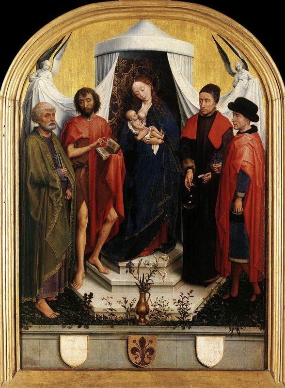 Virgin with the Child and Four Saints - Rogier van der Weyden