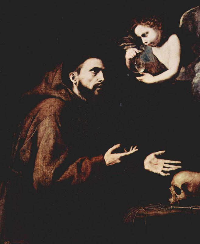 Vision of St. Francis of Assisi  - Jusepe de Ribera