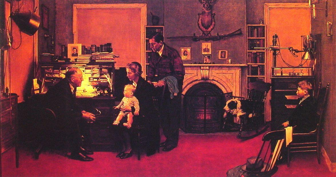 Visits a Country Doctor - Norman Rockwell