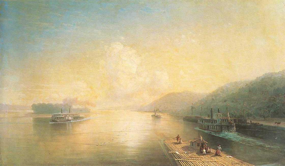 Volga near Zhigulevskie hill - Ivan Aivazovsky