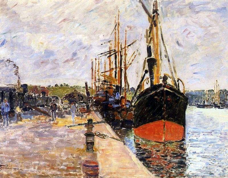 Vue de port - Armand Guillaumin