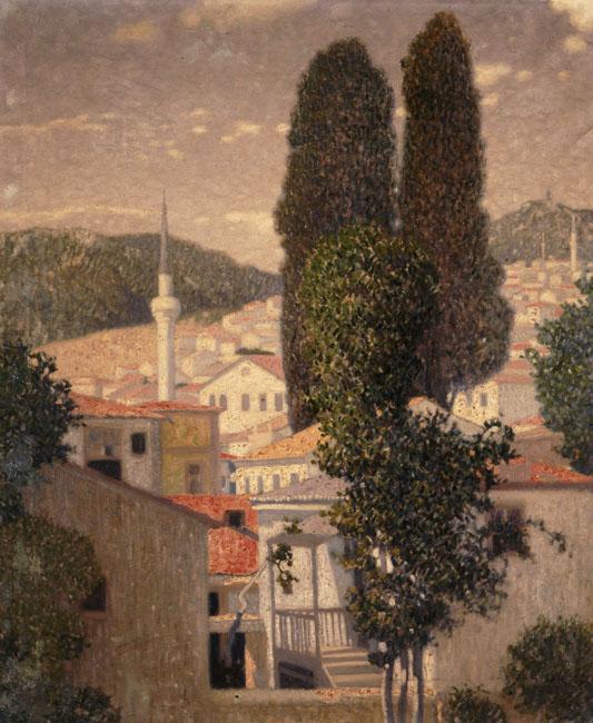 Landscape from Kavala - Konstantinos Parthenis