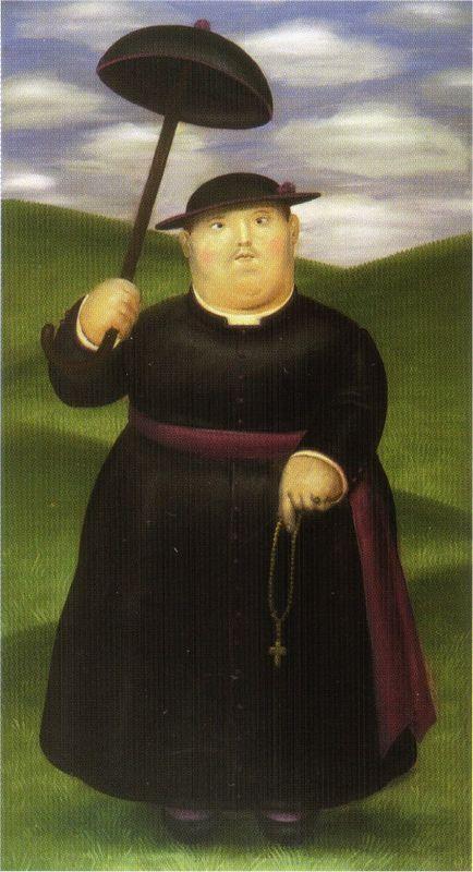 Walk in the Hills - Fernando Botero