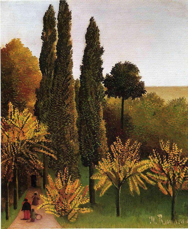 Walking in the Parc des Buttes Chaumont - Henri Rousseau