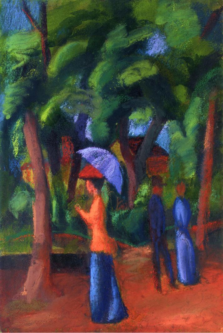 Walking in the Park - August Macke