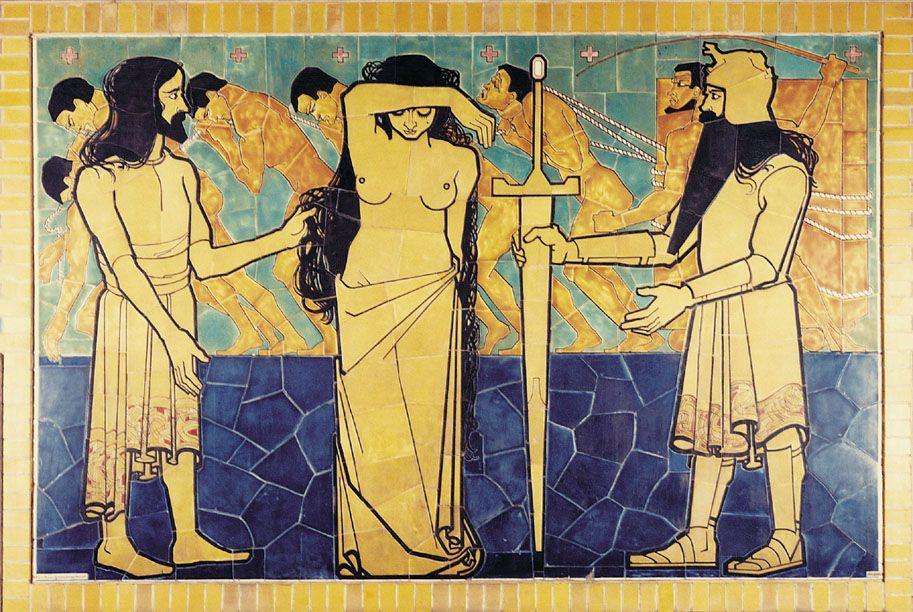 Wall decoration for Beurs van Berlage Cafe - Jan Toorop