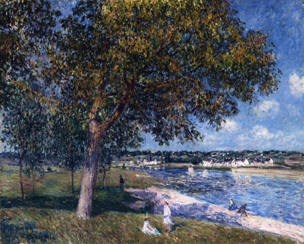 Walnut Tree in a Thomery Field - Alfred Sisley