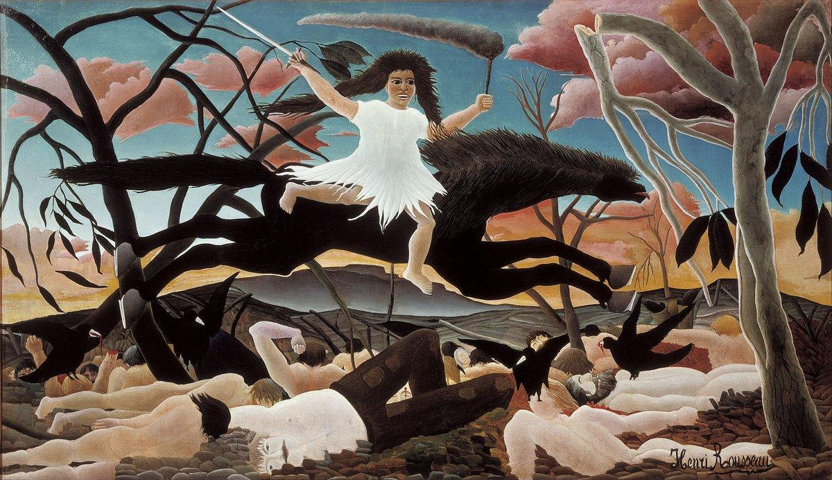 War or the Ride of Discord  - Henri Rousseau
