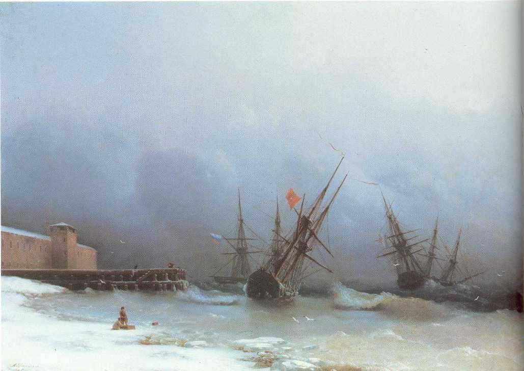Warning of storm - Ivan Aivazovsky