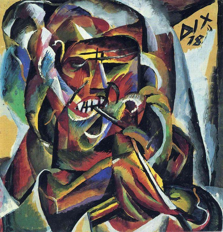 Warrior with a Pipe - Otto Dix