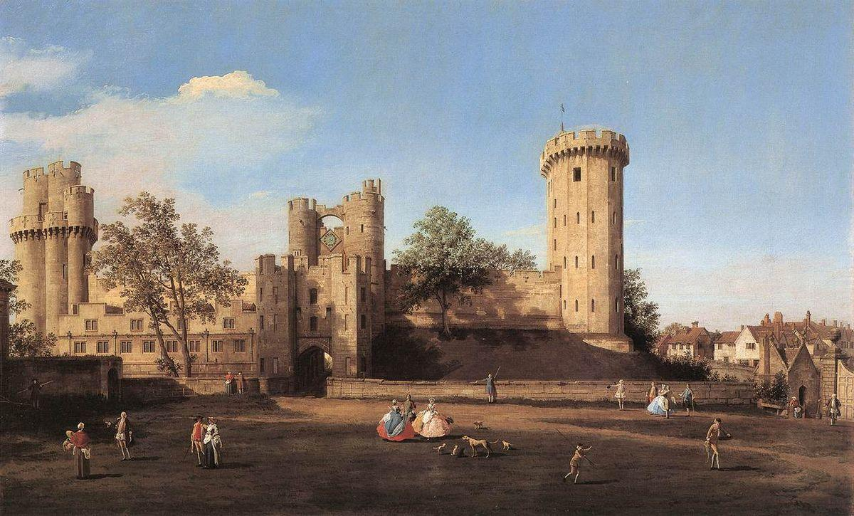Warwick Castle: the East Front - Canaletto