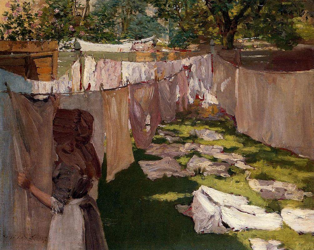 Wash Day - A Back Yard Reminiscence of Brooklyn - William Merritt Chase