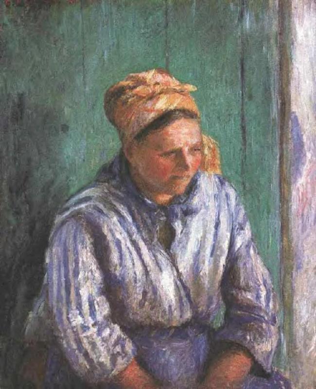 Washerwoman Study (also known as La Mere Larcheveque) - Camille Pissarro