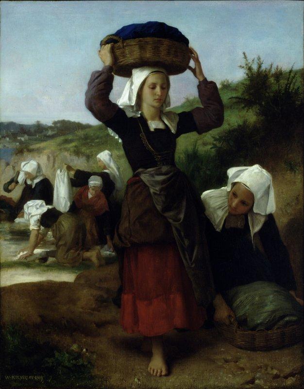 Washerwomen of Fouesnant - William-Adolphe Bouguereau