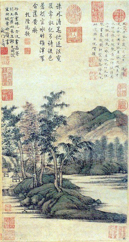 Water and Bamboo Dwelling - Ni Zan