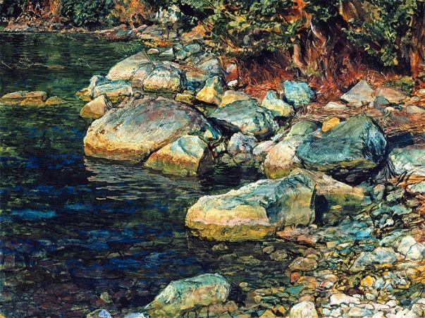 Water and stones under Palaccuolo - Alexander Ivanov