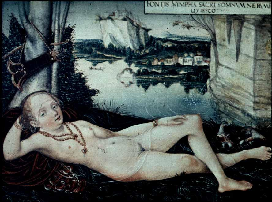 Water Nymph Resting - Lucas Cranach the Elder
