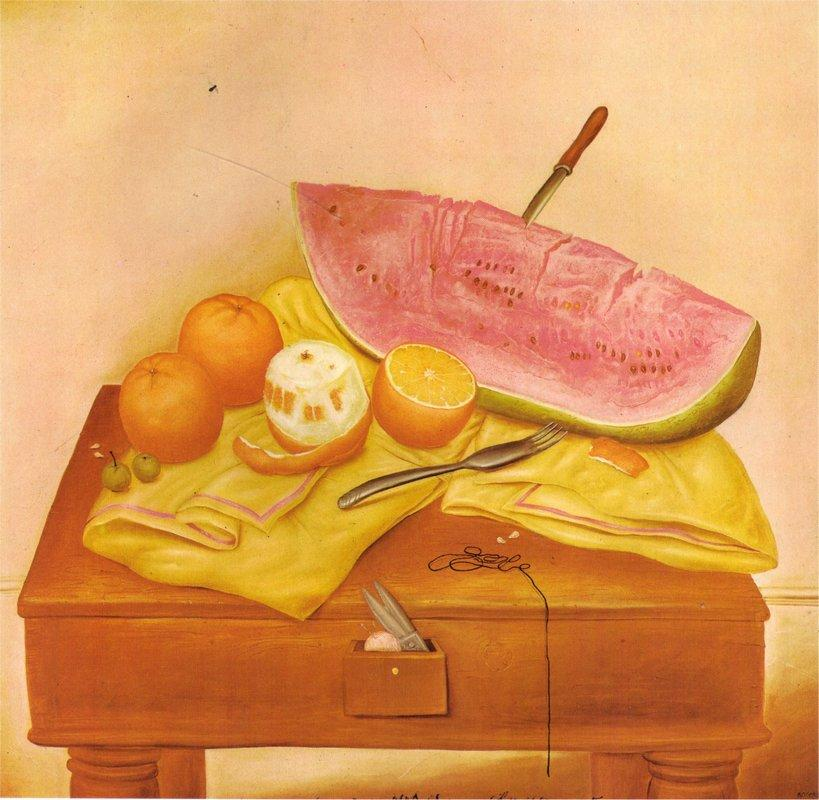 Watermelons and Oranges - Fernando Botero