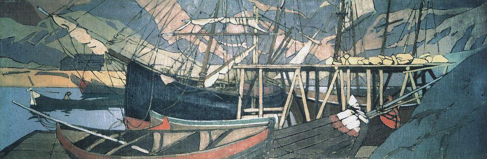 We ship encampments  - Konstantin Korovin