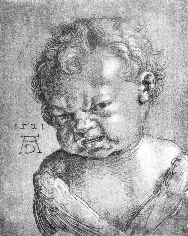 Weeping Angel boy - Albrecht Durer