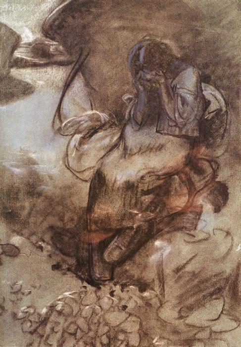 Weeping Girl - Alphonse Mucha