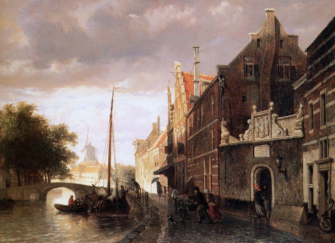 Weeshuis in Kampen - Cornelis Springer