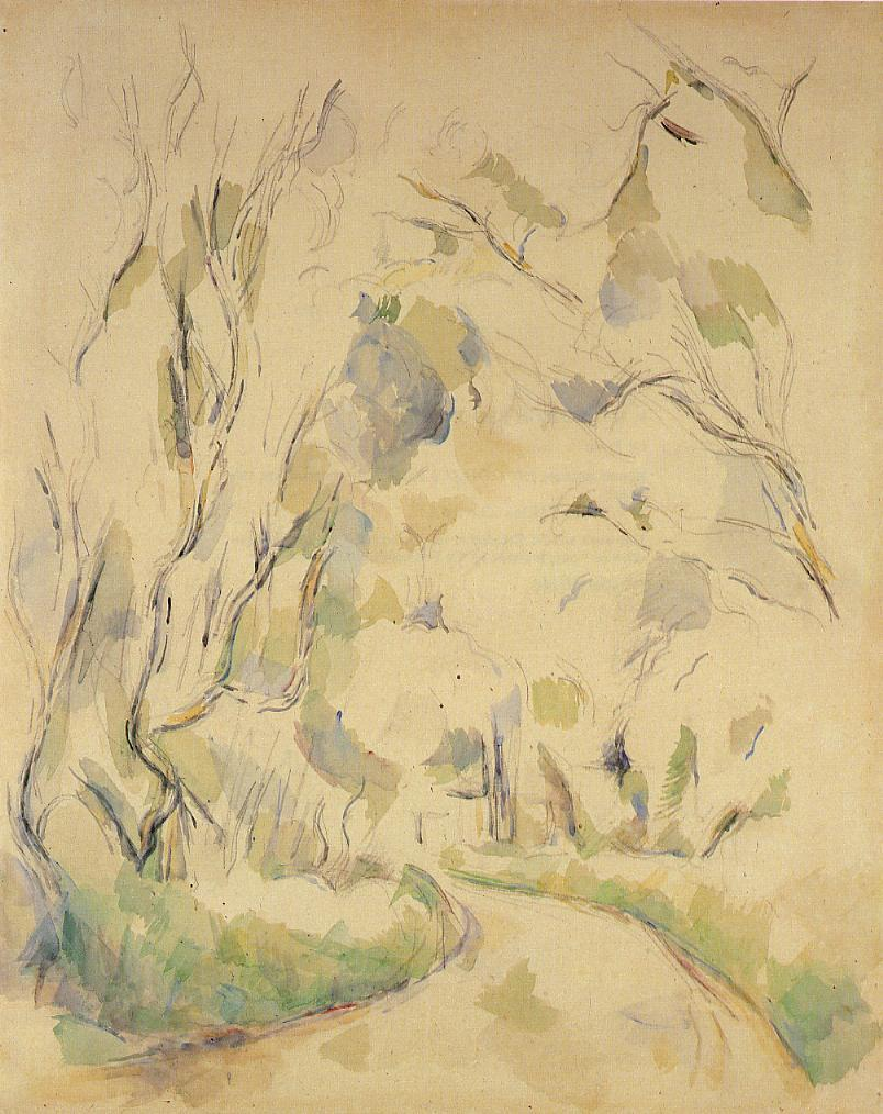 Well by the Winding Road in the Park of Chateau Noir - Paul Cezanne