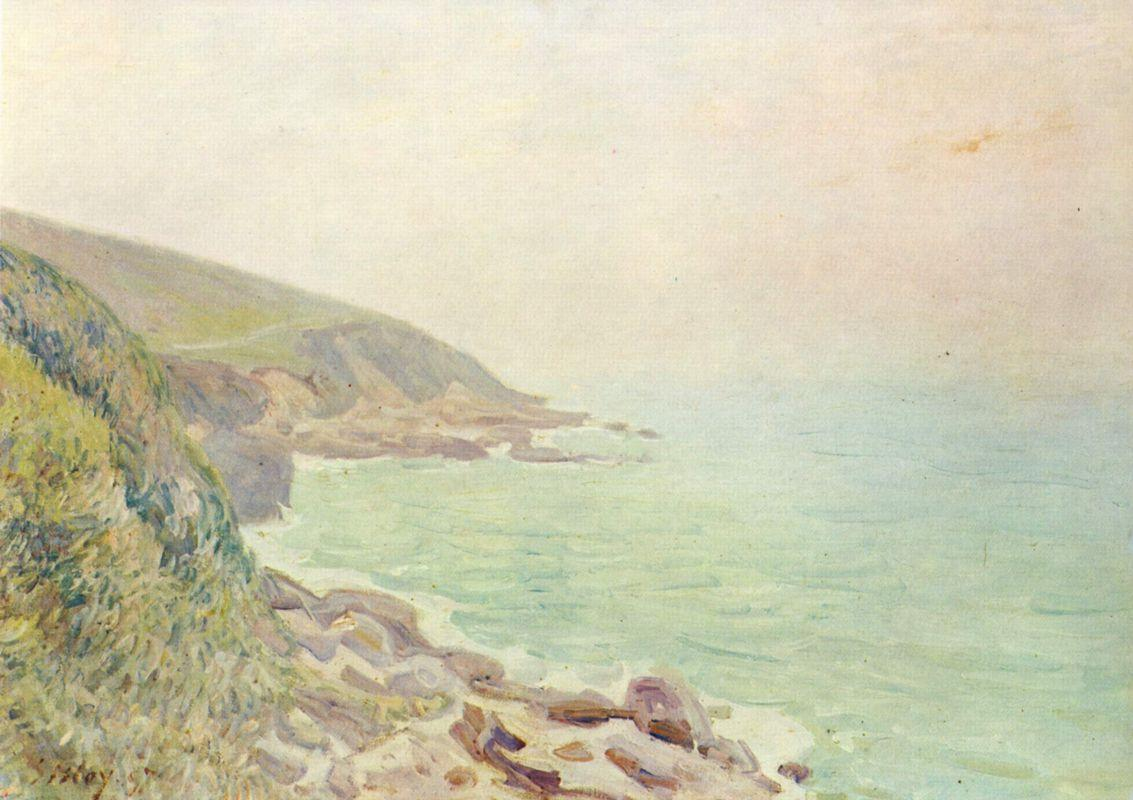 Welsh Coast in the fog - Alfred Sisley