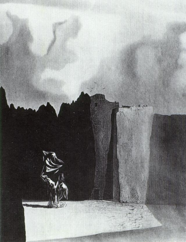 West Side of the Isle of the Dead - Salvador Dali